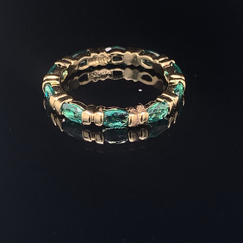 10k Gold Plated Sterling Silver Emerald Ring