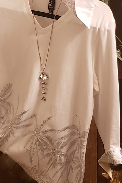 silver palm tunic
