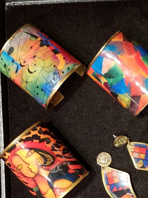 Art to Wear Cuff bracelets