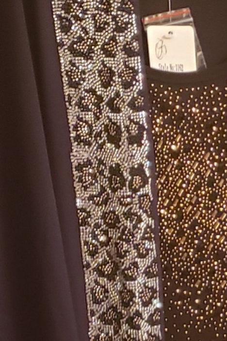 Embellished jacket leopard