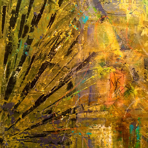 """Detail from """"Mustard and Yarrow"""""""