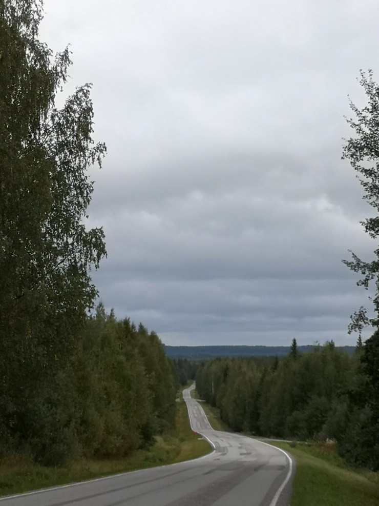Empty road in Finland