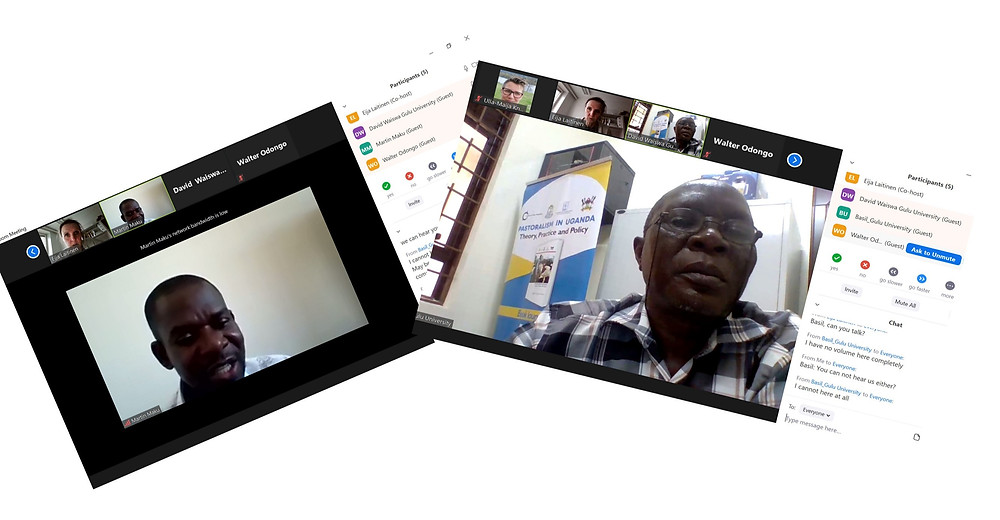Screenshots of virtual PBL trainings