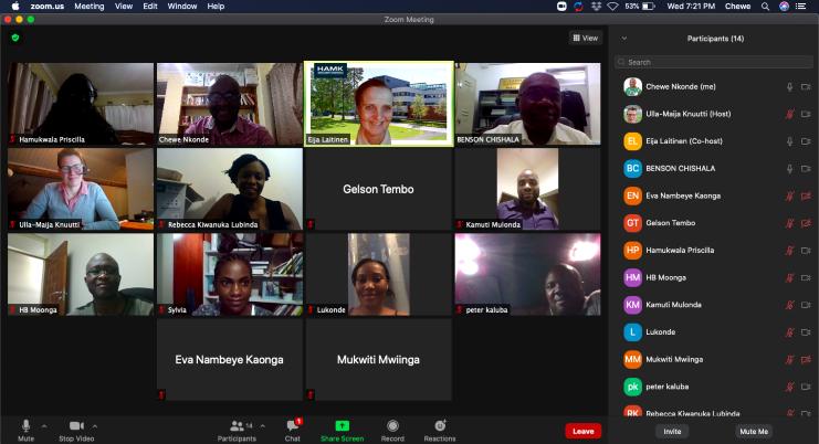 Screenshot of the Zoom training