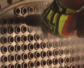 CleanerBlast on heat exchanger