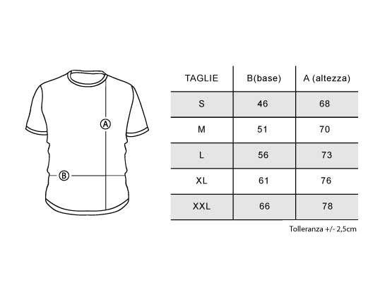 maglie t-shirt felpe taglie sizes calzata