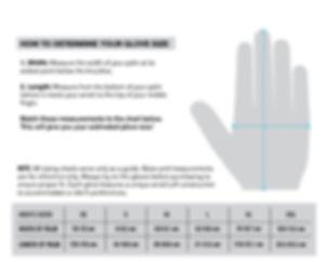 calzata guanto taglia sizes fitting gloves