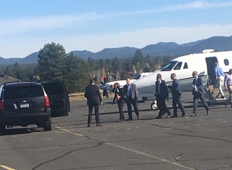 Press Release: Climate Leader Gov. Kate Brown Flies in Private Jet to Sunriver Meeting