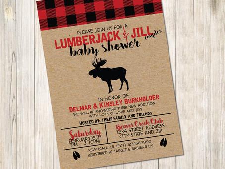 A Lumberjack Baby Shower
