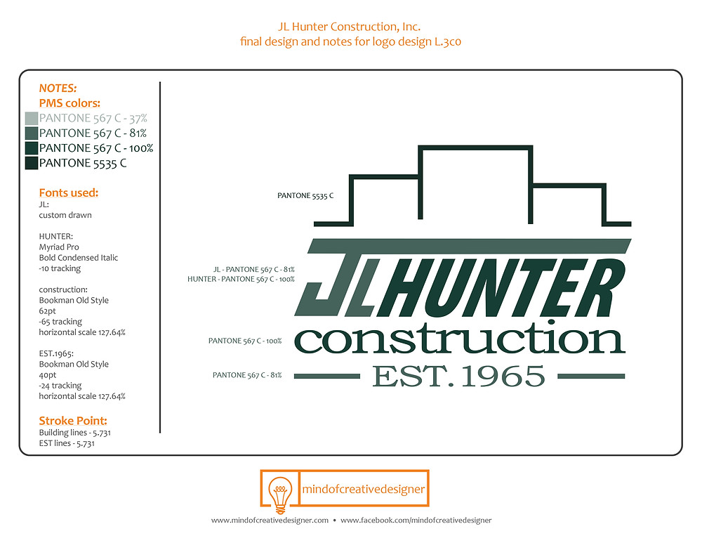 JL Hunter Construction Brand Style Guide