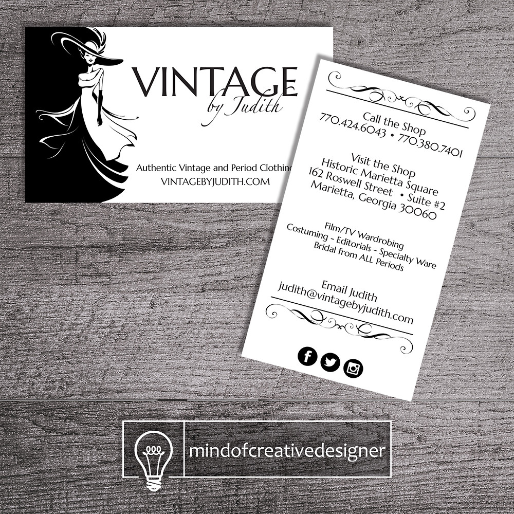 Vintage by Judith - Branding - Business Cards