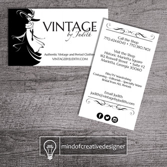 Graphic Design Client Portfolio: Vintage by Judith