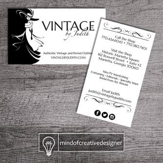 Graphic Design Client Portfolio: Vintage by Judith
