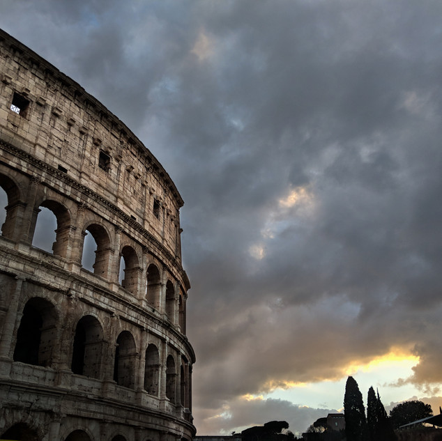 A Stormy Sunset in Rome
