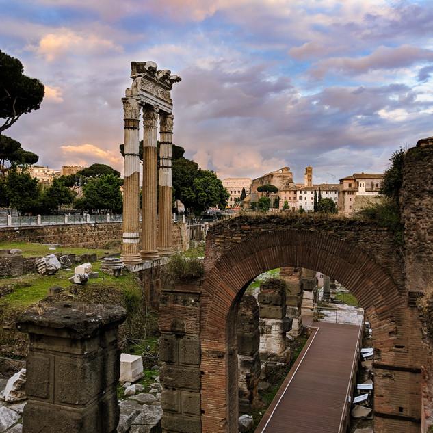 The Roman Forum at Twilight