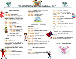 Programación Semana Cultural