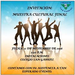 Muestra cultural final