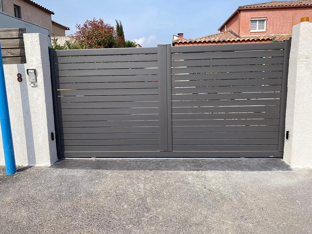 Portail aluminium Saint-Cyprien