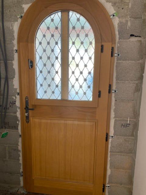 Porte entrée bois, Perpignan