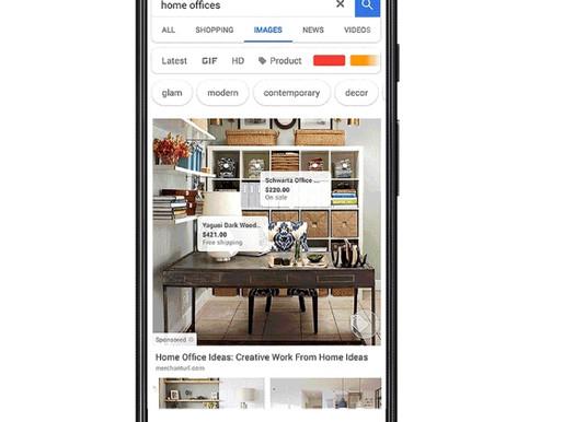 Google lance les publicités de produits intégrés via Google images