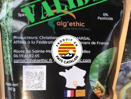Producteur Alg'ethic Spiruline : VALIDÉE