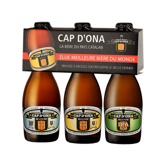 TP 3  Tripack 3 x 33 cl Tradition Exceptionnelle Blanche, Blonde Bio, IPA