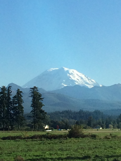Mount Rainier view from Enumclaw