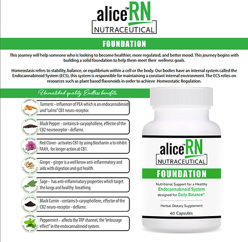 aliceRN Nutraceutical Foundation Capsules (60ct)