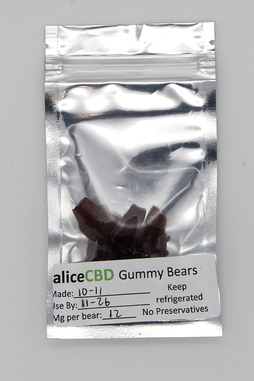 5 aliceCBD CBG/CBD Gummy Bears