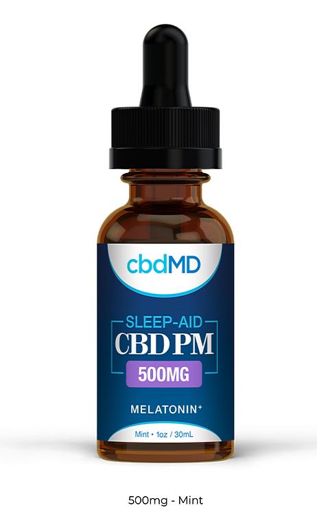 cbdMD PM - CBD Oil with Melatonin - 500mg