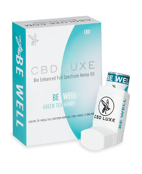 CBD LUXE - BE WELL – Green Tea, Honey – 1100mg Inhaler
