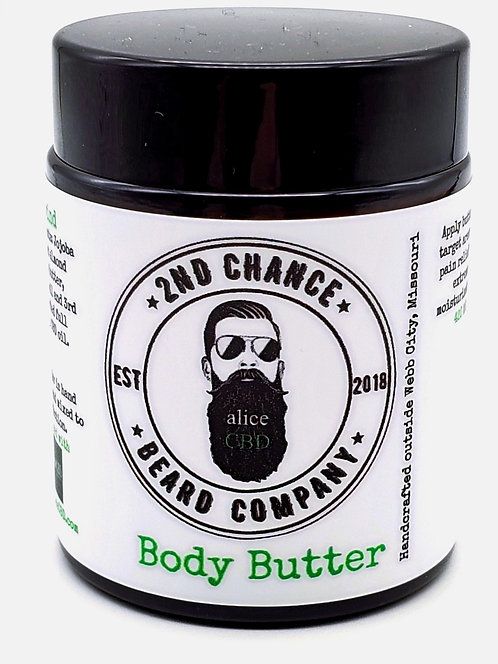 Body Butter Infused with aliceCBD Drops - 4oz - 420 mg of CBD