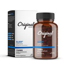 THC FREE-Original Hemp CBD Capsules Sleep (750 MG - 60 Capsules per bottle)