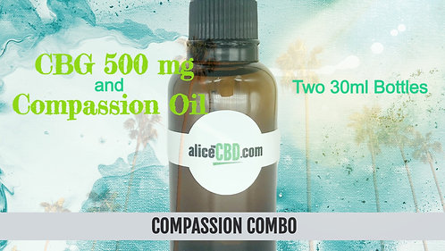 aliceCBD Compassion Combo: Compassion Oil + CBG 500mg