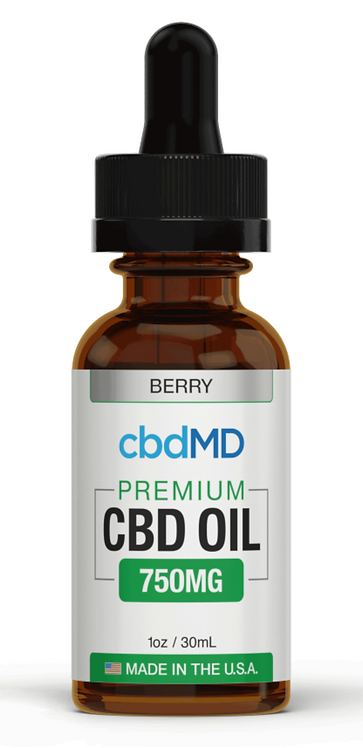 cbdMD Premium Oil - 750mg - Berry Flavor