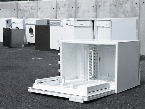 Clarkes Electrical recycles white goods in Tiverton