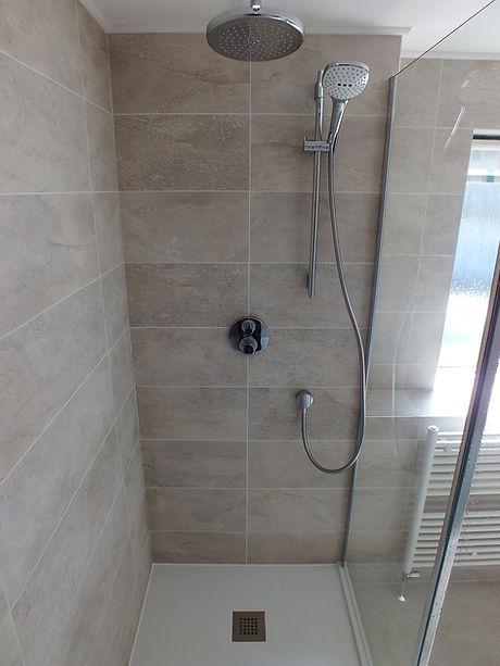 waterfall and handheld walk in shower