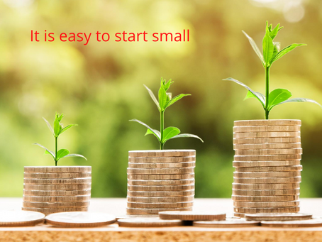 It is easy to start small and create wealth