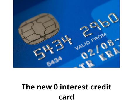 Zero interest credit card