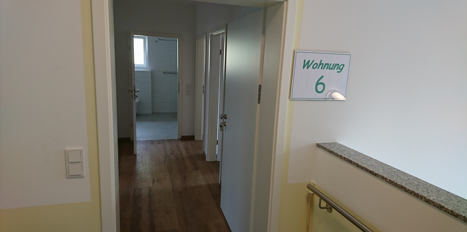 Blick in Wohnung 6