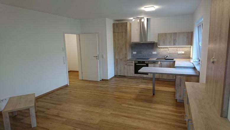 Blick zur Küche Wohnung 3