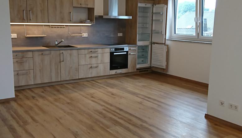 Blick in den Küchenbereich Wohnung 6