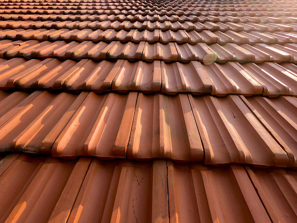 Machine made terracotta Mangalore roof tiles