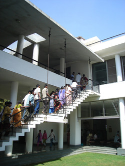External suspended staircase factory