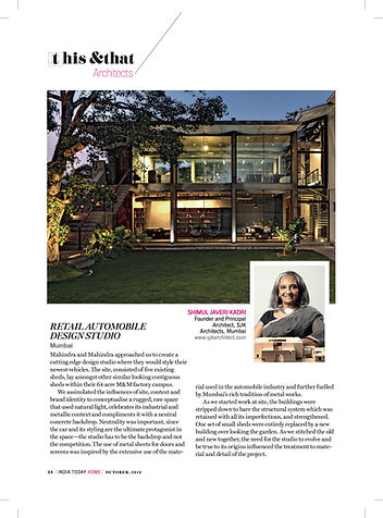 Automobile Design Studio- India Today October 2018