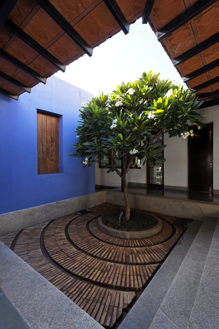 Home with courtyard