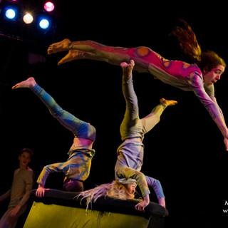 Cirkusartist hoppar