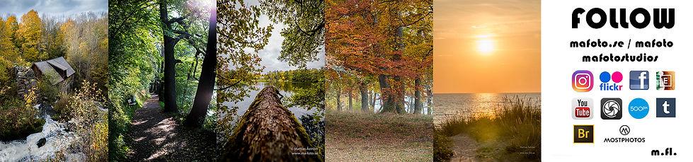 Banner ma-foto natur, landskap, sweden