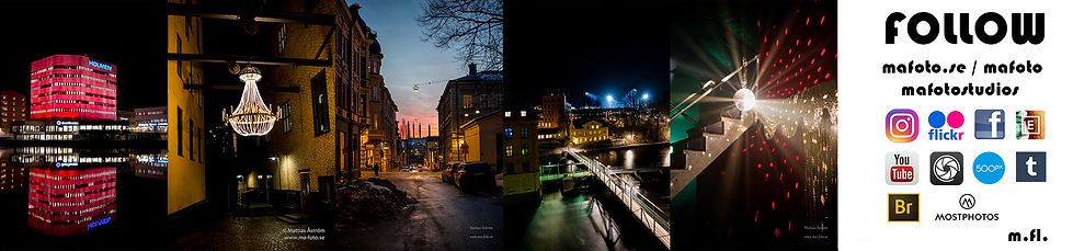 Banner ma-foto, city, nightphotography, ligts, colorfull, norrköping
