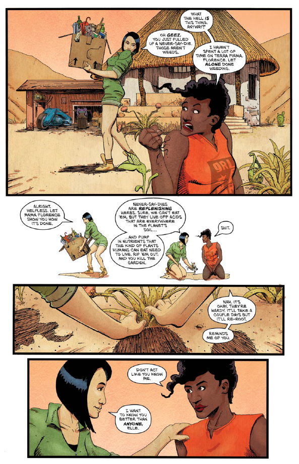 Vagrant Queen: A Planet Called Doom, Issue #1, p. 12, Vault Comics, Viasggio/Smith